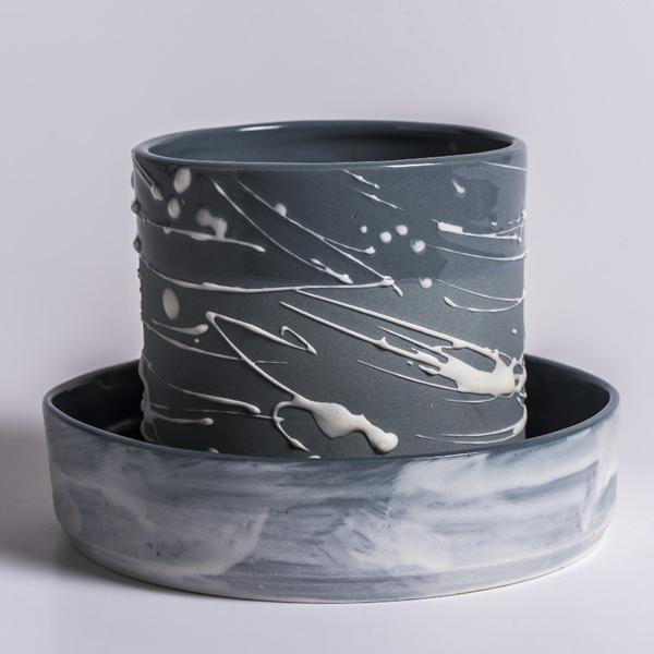 Mug Pollock et soucoupe Isabelle Poupinel
